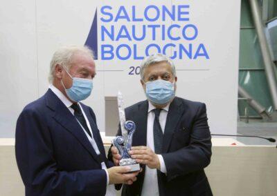 Da sx: Gianpiero Calzolari (pres. BolognaFiere); Gennaro Amato (pres. Snidi);
