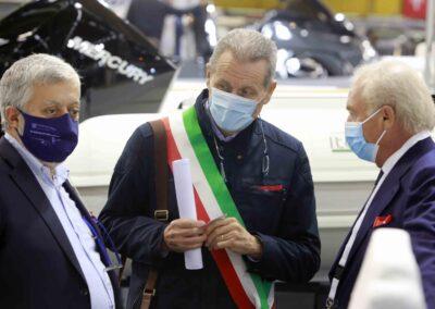 Da sx:  Gianpiero Calzolari (pres. BolognaFiere);  Claudio Mazzarri (Ass. Mobilità Comune di Bologna); Gennaro Amato (pres. Snidi);